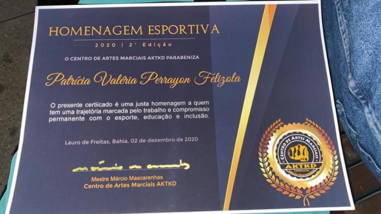 Os atletas homenageados receberam uma medalha exclusiva e um certificado | Foto: Reprodução | Arquivo Pessoal