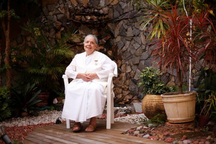 Ida Meirelles é instrutora de meditação e coordenadora do movimento Brahma Kumaris na região Nordeste | Foto: Olga Leiria | Ag. A TARDE - Foto: Olga Leiria | Ag. A TARDE