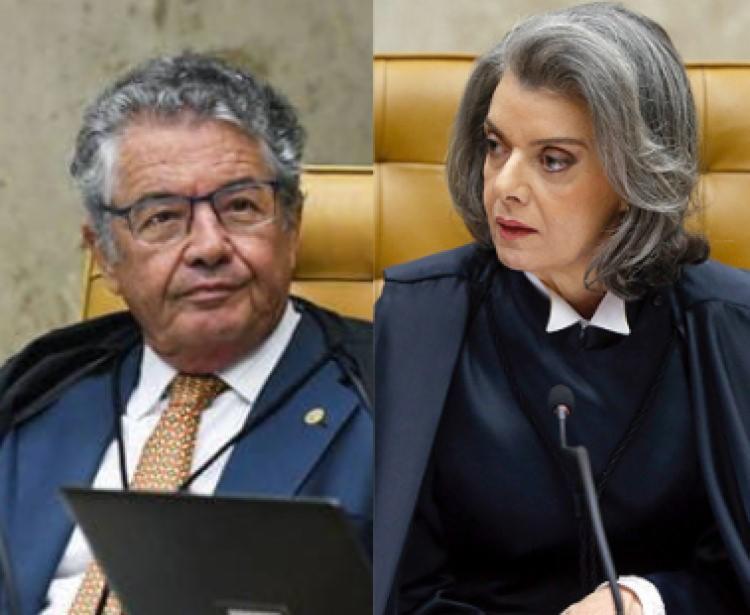 Marco Aurélio e Cármen afirmaram categoricamente que a Constituição veda a hipótese em discussão | Foto: Divulgação - Foto: Divulgação