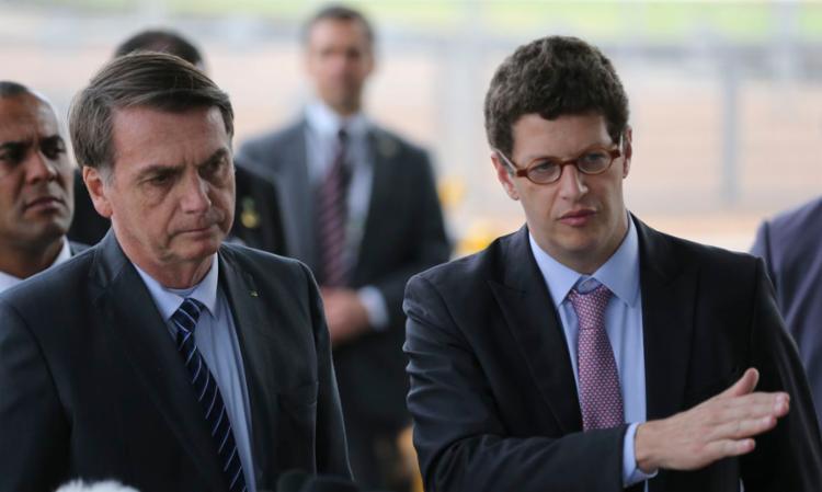 O presidente Bolsonaro e o ministro do Meio Ambiente, Ricardo Salles | Foto: José Cruz | Agência Brasil - Foto: José Cruz | Agência Brasil