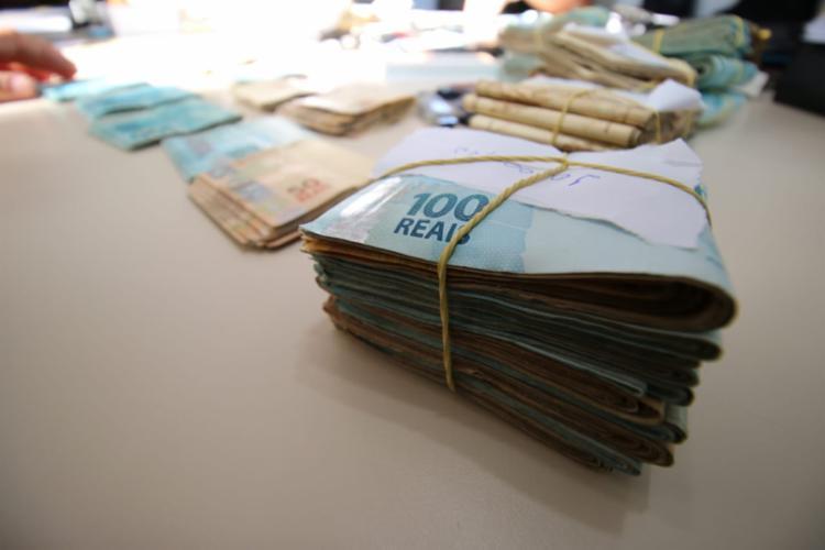 Quantia estava em um condomínio de alto padrão   Foto: Divulgação   Polícia Civil - Foto: Divulgação   Polícia Civil