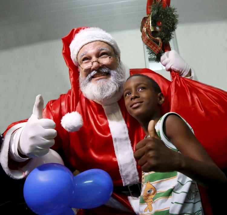 O velho Noel, os bons fluidos vieram com o colonizador | Foto: Rafael Martins | Ag. A TARDE - Foto: Rafael Martins | Ag. A TARDE