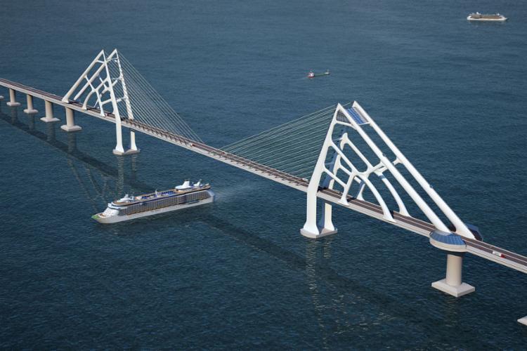 A construção da ponte encurtará o tempo de deslocamento em cerca de 100 km | Foto: Divulgação | 6.2.2016 - Foto: Divulgação | 6.2.2016