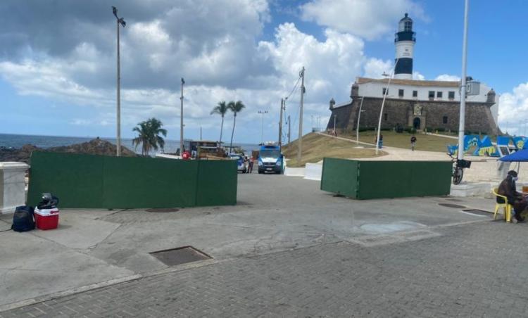 Intuito da ação é monitorar o fluxo de banhistas no local, para prevenir aglomerações no local   Foto: Divulgação - Foto: Divulgação