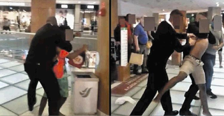 Ação de seguranças foi gravada por clientes | Foto: Reprodução - Foto: Reprodução