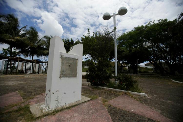 Monumento a Mãe Preta foi um dos alvos de depredação | Foto: Raul Spinassé | Ag. A TARDE