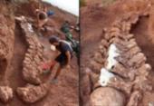 Dinossauro encontrado na Argentina pode ser o maior conhecido | Foto: José Luis Carballido | AFP