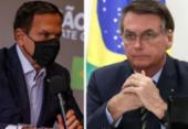 Bolsonaro cai e Doria cresce em popularidade digital com aprovação de vacina | Foto: Divulgação I governo de São Paulo e Marcos Corrêa I PR