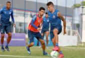 Recuperado da Covid-19, Daniel participa dos treinos na Cidade Tricolor | Foto: Felipe Oliveira | EC Bahia