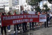 Funcionários do Sagrada Família protestam contra atrasos salariais | Foto: Divulgação