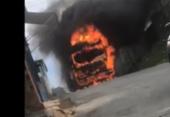 Ônibus é incendiado no bairro de São Cristovão | Foto: Cidadão Repórter
