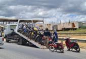 PRF apreende mais de 100 motocicletas durante operação na Bahia | Foto: Divulgação | PRF