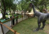 Mais 15 dinossauros serão instalados em parque de Salvador | Foto: Olga Leiria I Ag. A Tarde