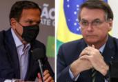 Bolsonaro cai e Doria cresce em popularidade digital | Divulgação I governo de São Paulo e Marcos Corrêa I PR