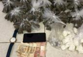 Homicida é preso com quase 600 porções de drogas | Divulgação | SSP