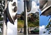Vândalos cortam cabos de semáforos na Vasco da Gama | Divulgação | Transalvador