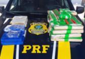 Homem é preso com 40 quilos de drogas na BR-242   Divulgação   PRF