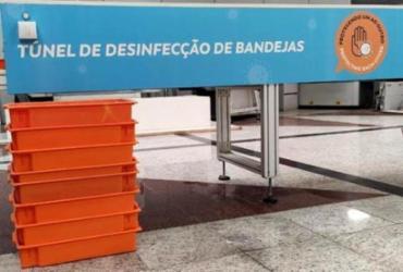 Aeroporto de Salvador cria túnel de desinfecção que acelera higienização de bandejas | divulgação I VINCI Airports