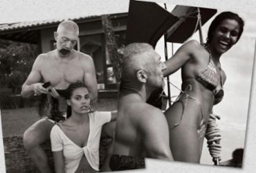 Ator francês Vincent Cassel aproveita as praias da Costa do Cacau, na Bahia |