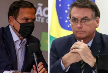 Bolsonaro cai e Doria cresce em popularidade digital com aprovação de vacina | Divulgação I governo de São Paulo e Marcos Corrêa I PR