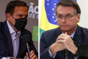 Bolsonaro proíbe ministros de atender a pedidos de Doria | Divulgação I governo de São Paulo e Marcos Corrêa I PR