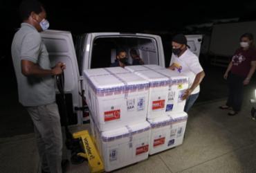 Bahia atinge mais de meio milhão de vacinas recebidas com a chegada de 54.600 doses da CoronaVac