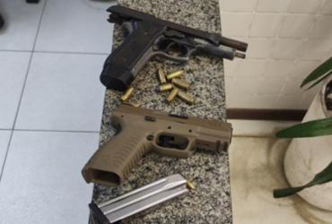 Dupla é presa com pistolas e munições em São Cristóvão | Divulgação | SSP