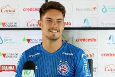 """De volta ao Bahia, Caio Mello fala sobre expectativa em relação ao Baianão: """"Sempre chegaremos para ganhar""""   Felipe Oliveira   E.C.Bahia"""