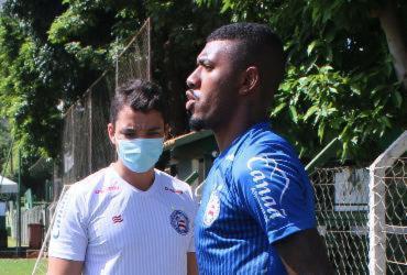 Após estreia no profissional, Thiago quer quebrar jejum de triunfos contra o Atlético-GO   Rafael Machaddo   EC Bahia