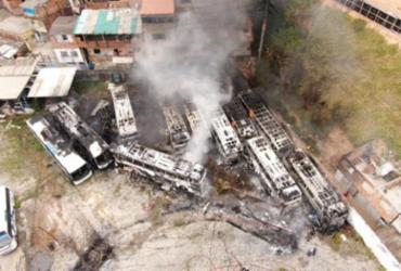 Funcionários de empresa de ônibus protestam contra atraso de salários | Divulgação | CBM-BA