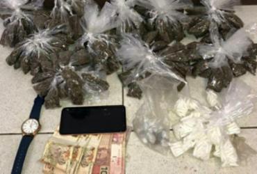 Homicida é preso com quase 600 porções de drogas em São Cristóvão | Divulgação | SSP