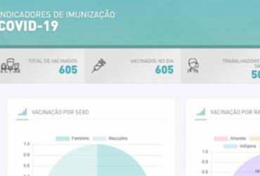 Covid-19 Prefeitura lança plataforma para acompanhar imunização em Salvador | Reprodução