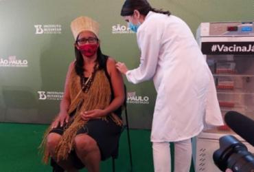 Primeira indígena é vacinada no Brasil | Reprodução