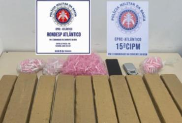 Homem é flagrado com drogas escondidas na mochila em Itapuã | Divulgação | SSP