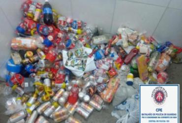 215 latas de cervejas que seriam arremessadas para presidiários são apreendidas | Divulgação | SSP
