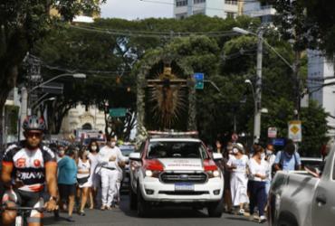 Imagem do Senhor do Bonfim cruza Salvador sem registrar aglomerações | Foto: Rafael Martins/ Ag: A TARDE