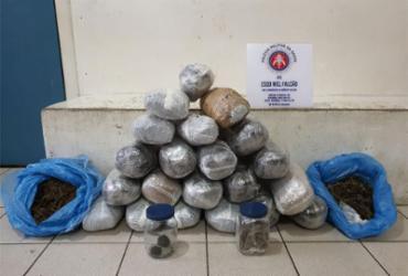 Jovem é preso após ser flagrado transportando drogas em caixa de papelão | Divulgação | SSP-BA