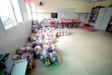 Prefeitura entrega cestas básicas para alunos municipais nesta segunda | Divulgação | Secom-PMS