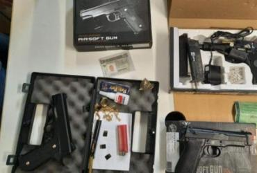 Suspeito de saidinhas bancárias na região de Itapuã é preso com arma de brinquedo | Divulgação I Polícia Civil