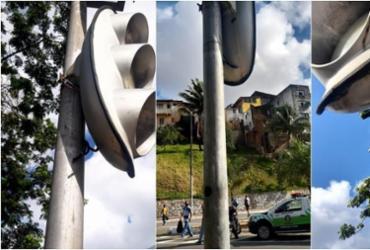 Vândalos cortam cabos de semáforos na avenida Vasco da Gama | Divulgação | Transalvador