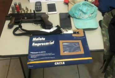Suspeitos de assalto são presos com submetralhadoras em Sete de Abril | Divulgação | SSP