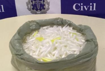Traficante é flagrado com 1,7 mil pinos de cocaína na Federação | Divulgação | Ascom Polícia Civil