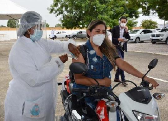 Vacinação contra a Covid-19 é iniciada no interior do estado   Divulgação   PMVC