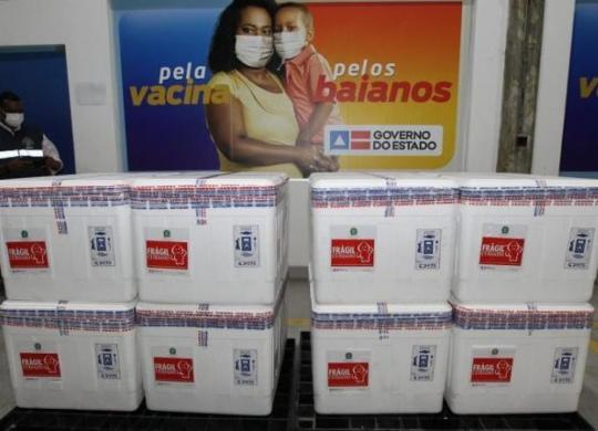 Vacina contra Covid-19 começa a ser enviada para regiões do interior baiano   Divulgação   GOVBA