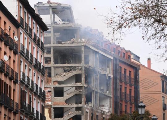Duas pessoas morrem e oito ficam feridas após forte explosão em Madri   Gabriel Bouys   AFP