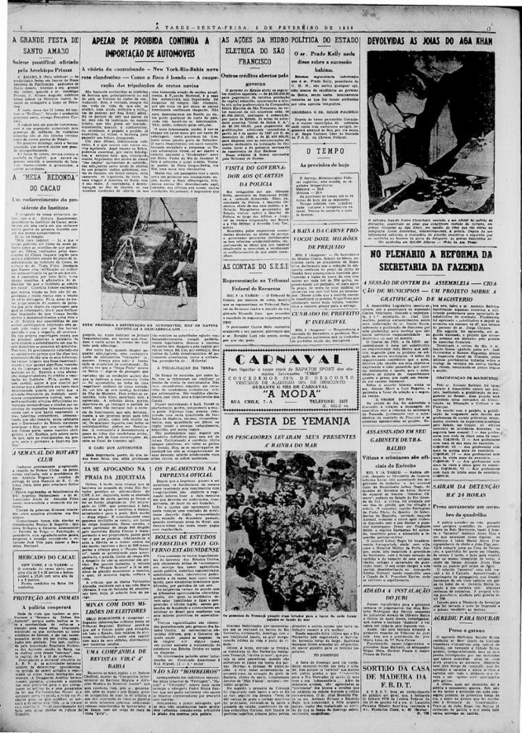 Denominação Iemanjá começa a se tornar mais comum como principal homenageada da Festa do Rio Vermelho. Antes era 'Mãe D´Água' | Foto: Arquivo A TARDE | 3.2.1950