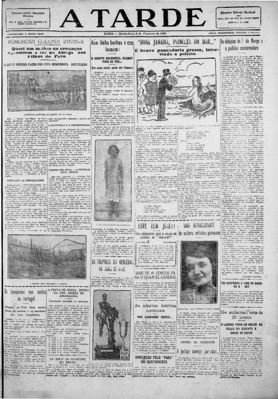 Reportagem indica que presente saía do Rio Vermelho e ia até Monte Serrat para só então retornar || 06.02.1930