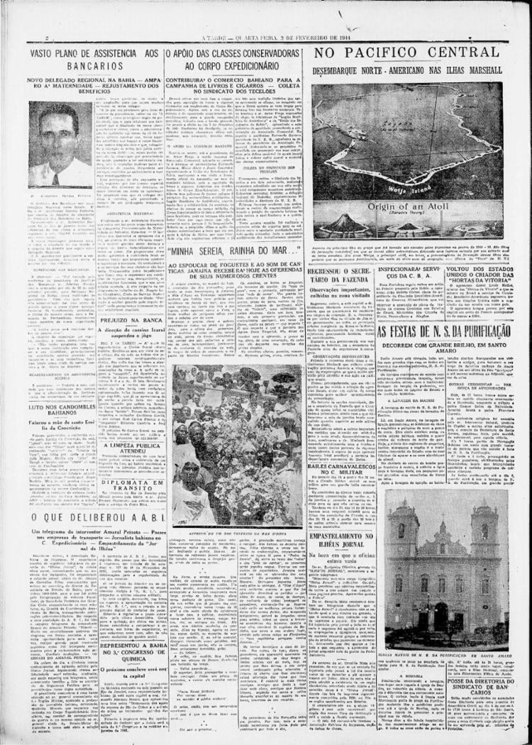 A devoção a Iemanjá reúne integrantes dos mais variados segmentos sociais || 02.02.1944