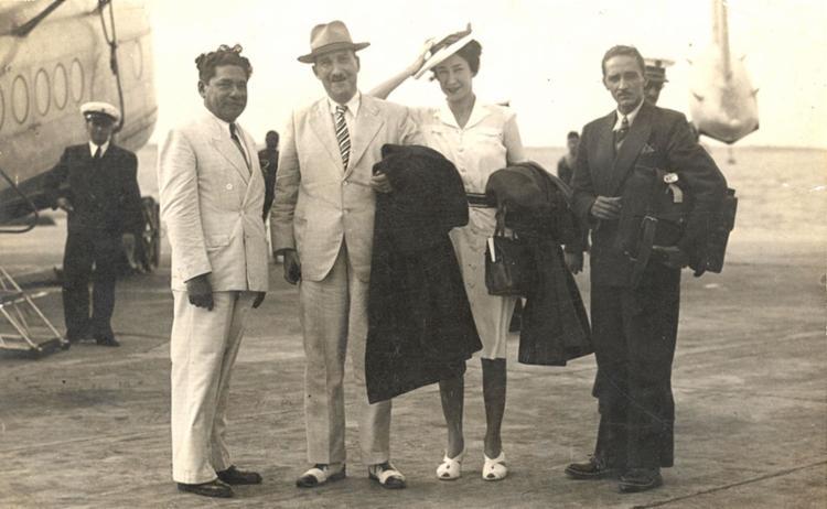 Zweig (à esquerda) ficou encantado pela Lavagem do Bonfim