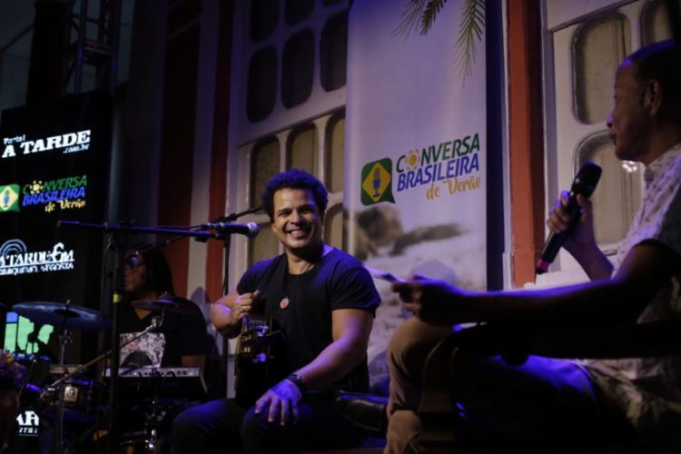 Adelmo foi o primeiro convidado do projeto Conversa Brasileira de Verão | Foto: Adilton Venegeroles | Ag. A TARDE - Foto: Adilton Venegeroles | Ag. A TARDE